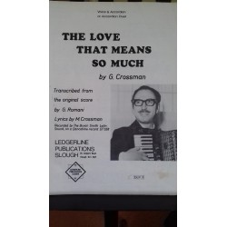 The love that means so much - accordion duet - Gerald Crossman