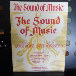 The sound of music title song, voice and piano sheet music