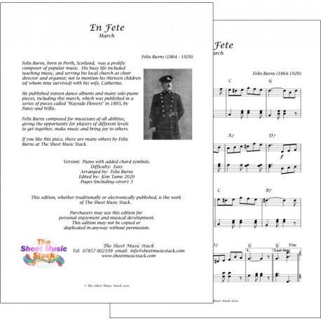 En Fete March - Felix Burns - Piano