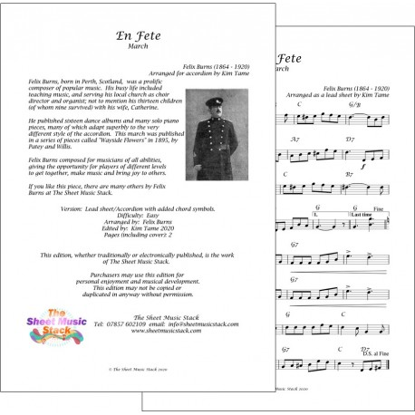 En Fete March - Felix Burns - Accordion or lead sheet