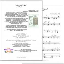 Poppyland Waltz - Felix Burns - lead sheet