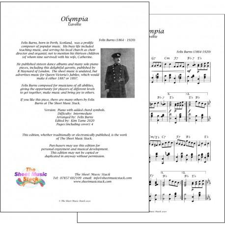 Olympia Gavotte - Felix Burns - piano
