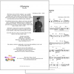 Olympia Gavotte - Felix Burns - lead sheet