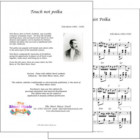 Touch Not Polka - Felix Burns - piano
