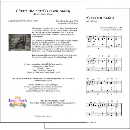 Christ the Lord is risen today - Accordion