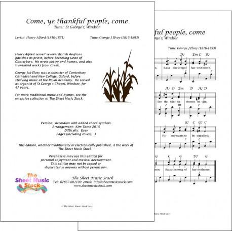 Come, ye thankful people, come - Accordion