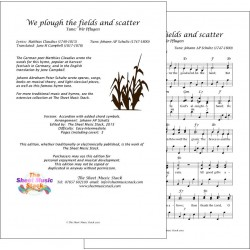 We plough the fields and scatter - Accordion