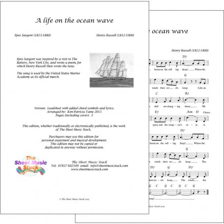 A life on the ocean wave - Russell/Sargent - Lead Sheet