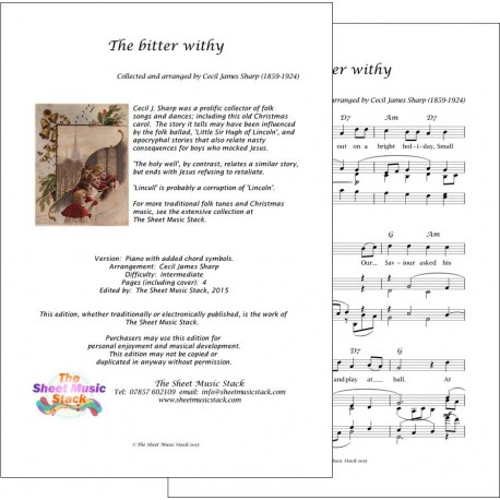 The bitter withy - Piano