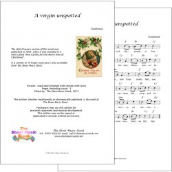 A Virgin Unspotted - traditional - Lead sheet