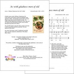 As with gladness men of old - traditional - lead sheet