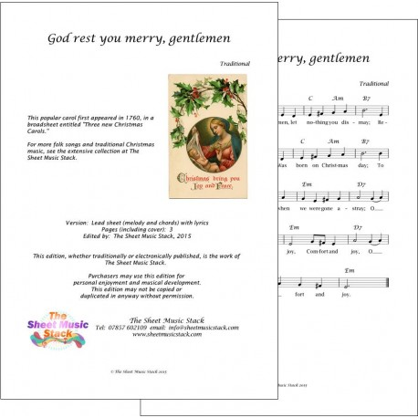 God rest ye merry, gentlemen - Lead sheet