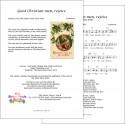 Good Christian men rejoice - Lead sheet