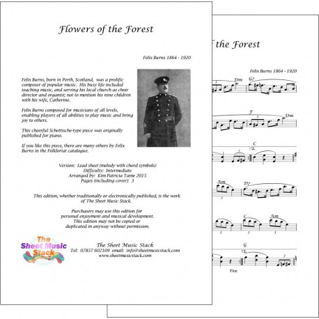 Flowers of the Forest - Felix Burns - Lead Sheet