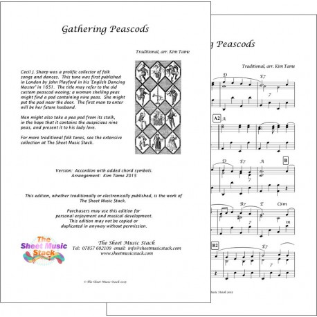 Gathering peascods - Accordion