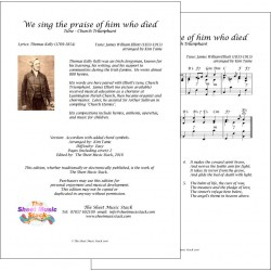 We sing the praise of him who died - Accordion