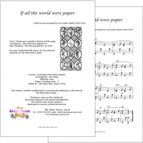 If all the world were paper - Accordion