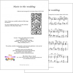 Haste to the weddng - Piano