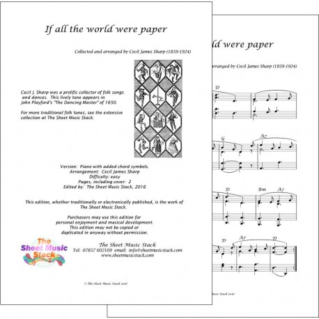 If all the world were paper - piano
