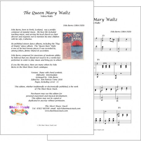 The Queen Mary Waltz - Felix Burns - Piano