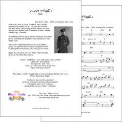 Sweet Phyllis - Felix Burns - lead sheet