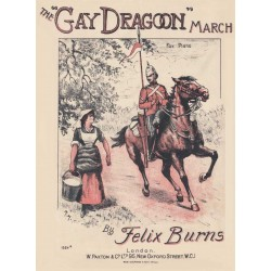 The Gay Dragoon March - Felix Burns - Lead sheet