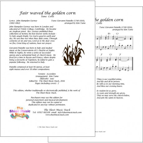 Fair waved the golden corn (Ceres) - Accordion
