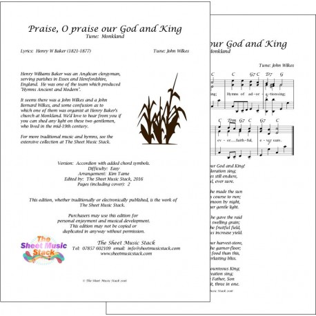 Praise O Praise our God and King (Monkland)) - Accordion