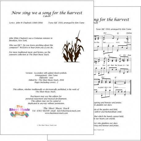 Now sing we a song for the harvest (Calvert) - Accordion