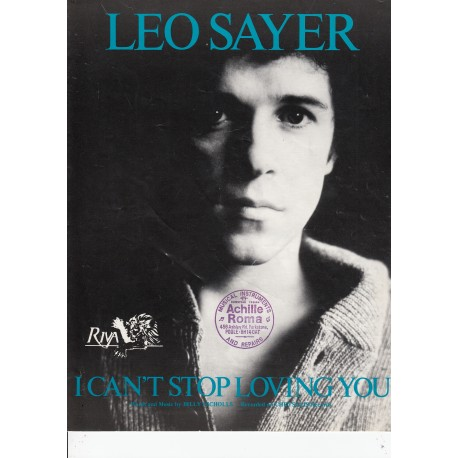 I can't stop loving you - Leo Sayer - sheet music
