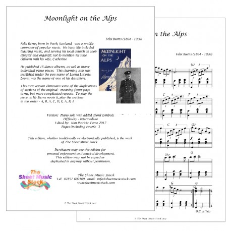 Moonlight on the Alps - Felix Burns (Leona Lacoste) - piano