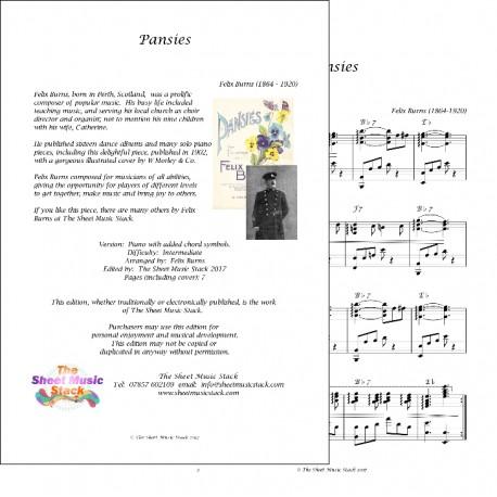 Pansies - Felix - Burns - Piano