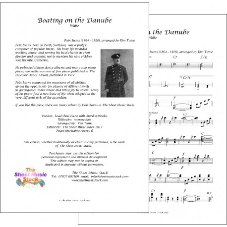 Boating on the Danube - Felix Burns - Lead sheet