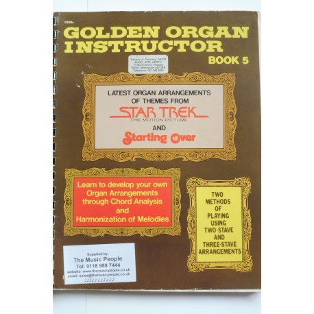 Golden Organ Instructor Book 5