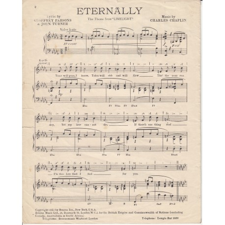 "Eternally from ""Limelight"" - Charles Chaplin, Geoffrey Parsons, John Turner"