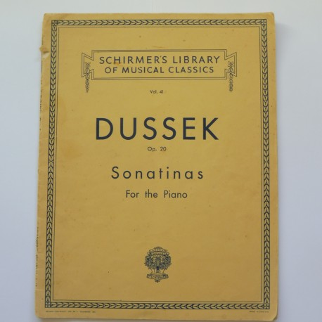 Dussek Sonatinas sheet music piano