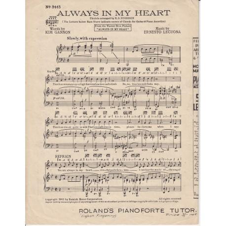 Always in my heart - Gannon/Lecuona