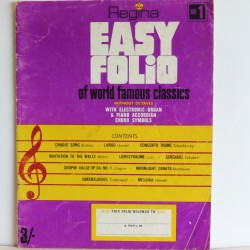 Easy Folio World Famous Classics piano, organ, keyboard